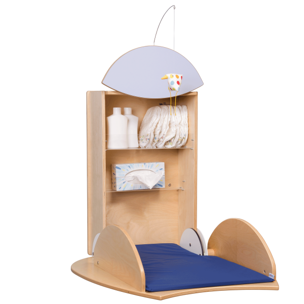 changing table owo birch light blue
